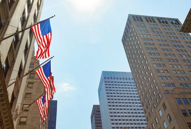 Bandiere americane a new york city