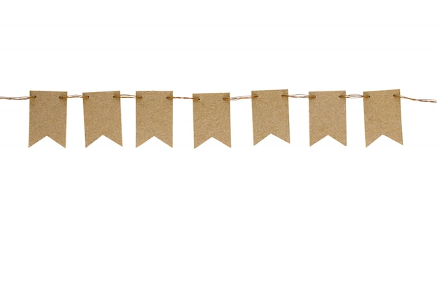 Bandiere artigianali isolate