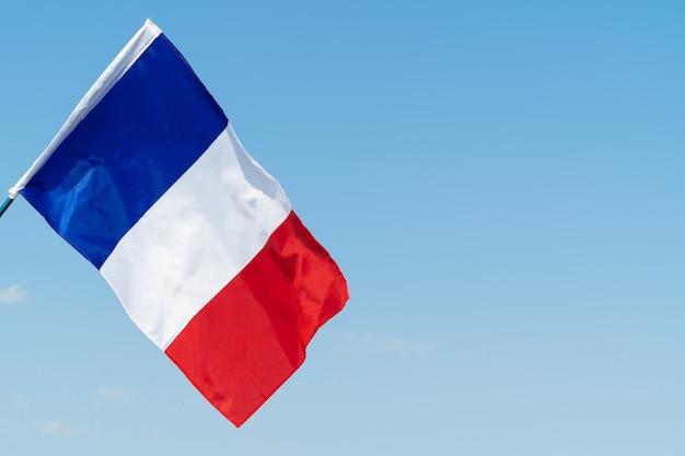 Bandierina della francia che fluttua nel vento nel cielo