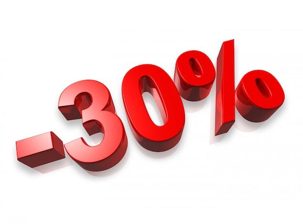 Banner del 30% trenta per cento