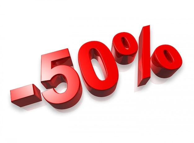 Banner del 50% al cinquanta per cento