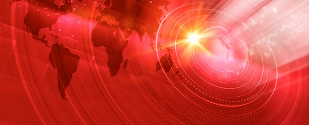 Banner grafico mondo digitale moderno
