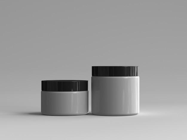 Barattolo cosmetico reso 3d senza un'etichetta