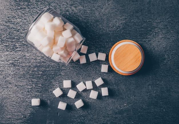 Barattolo di zucchero. vista dall'alto.