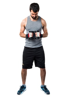 Barbell ispanico di salute del bodybuilding muscolare