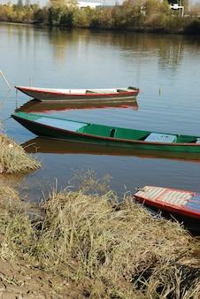 Barche sul fiume maine nell'angiò