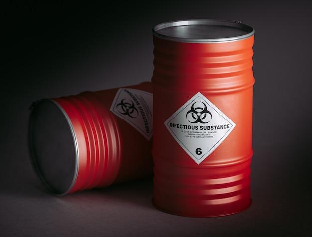 Barile di pericolo 3d