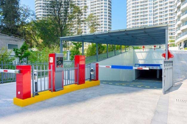 Barriera di un parcheggio di hotel