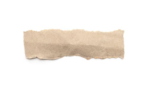 Bastone riciclato del mestiere di carta su una priorità bassa bianca.