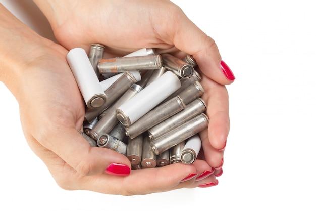 Batterie in mano