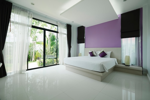 Beadroom moderno in hotel
