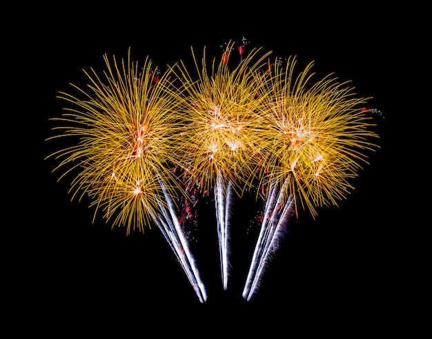 Bei fuochi d'artificio a notte sfondo