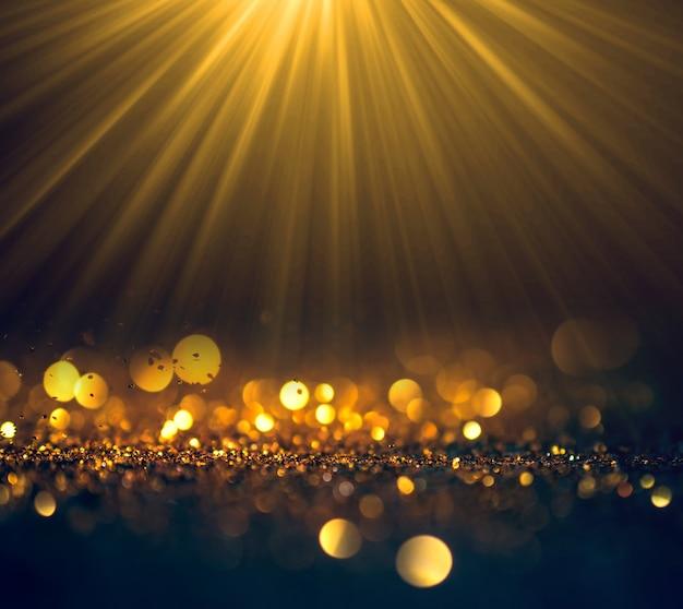 Bei raggi di luce con glitter luci grunge background,