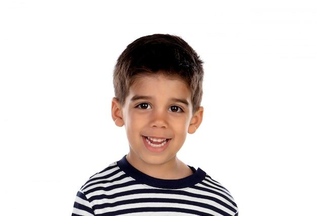 Bel bambino con gli occhi neri