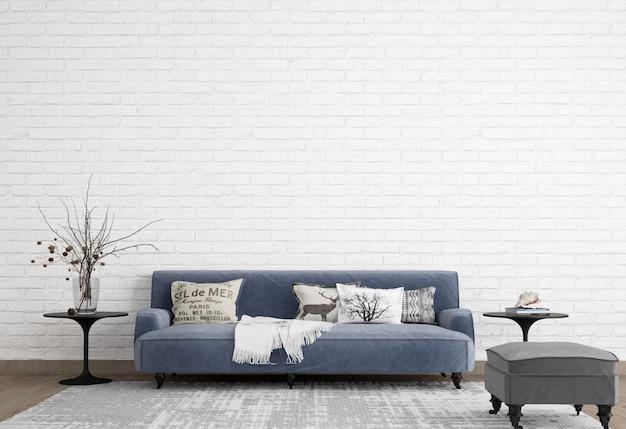 Bel soggiorno con un design minimalista