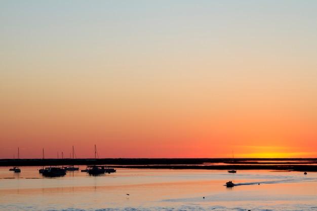 Bel tramonto alle paludi di ria formosa.