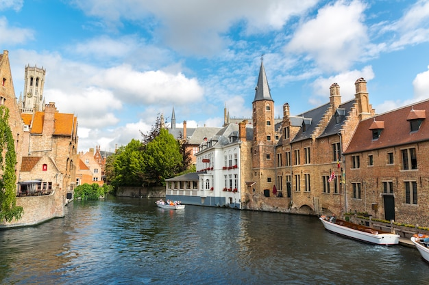 Belgio, brugge, fiandre occidentali, panorama