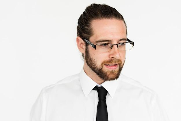 Bell'uomo d'affari con gli occhiali