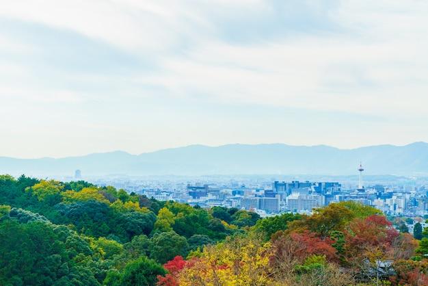 Bella architettura nel tempio di kiyomizu a kyoto giappone