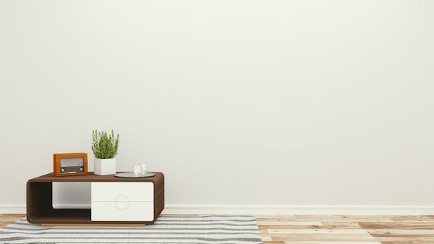 Bella camera, stanza vuota, interni luminosi moderni. rendering 3d