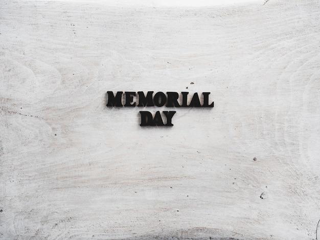 Bella carta per il memorial day. avvicinamento