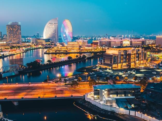 Bella città dell'orizzonte di yokohama nel giappone