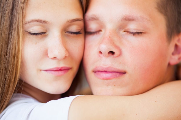 Bella coppia a letto