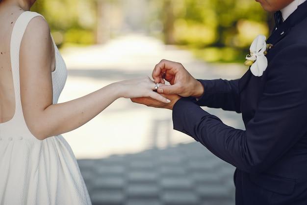 Bella coppia di sposi