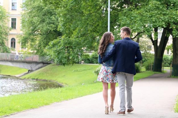Bella coppia nel parco