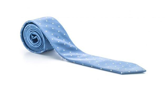 Bella cravatta blu su bianco