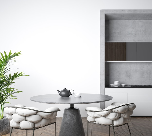 Bella cucina in un appartamento moderno