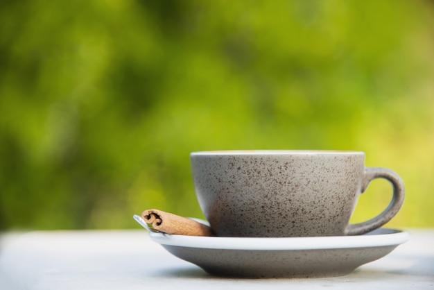 Bella fresca relax mattina tazza di caffè insieme