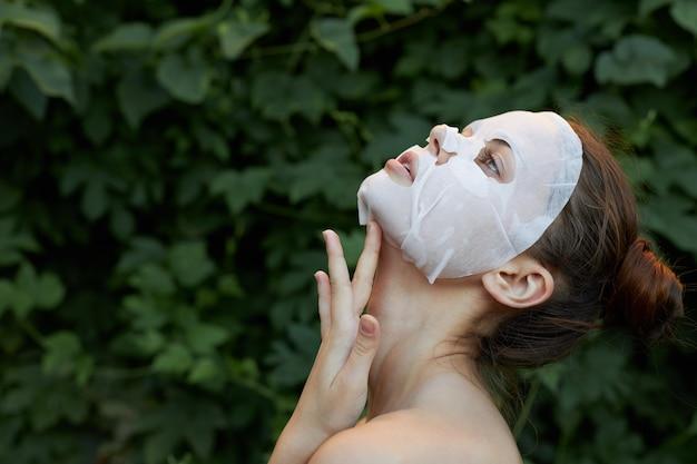 Bella maschera antirughe da donna
