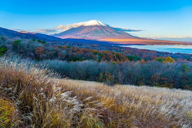 Bella montagna fuji in yamanakako o lago yamanaka