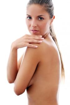 Bella ragazza in topless
