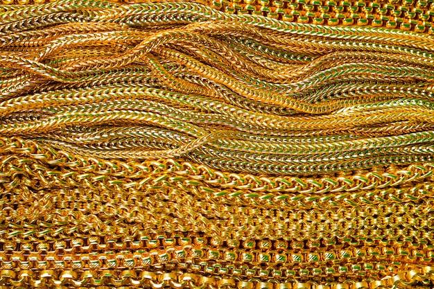Bella struttura della collana dell'oro per fondo, primo piano