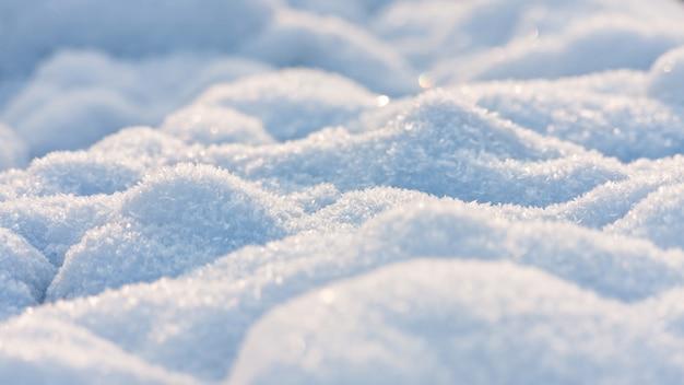 Bella trama invernale da neve