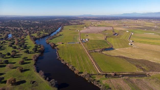 Bella vista aerea della campagna
