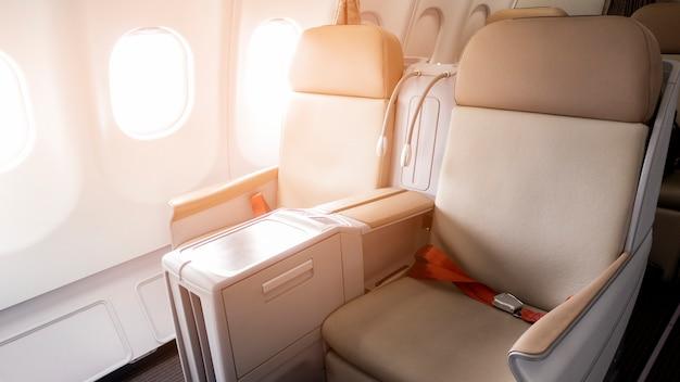 Bella vista dalla classe business degli aerei
