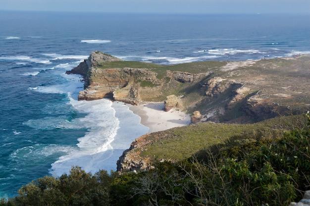 Bella vista del capo di buona speranza e dell'oceano, sudafrica