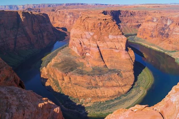 Bella vista della horseshoe bend in arizona, stati uniti.