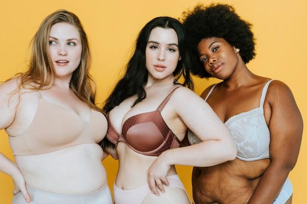 Belle donne curvy con una buona immagine del corpo