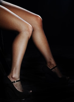 Belle gambe femminili in collant