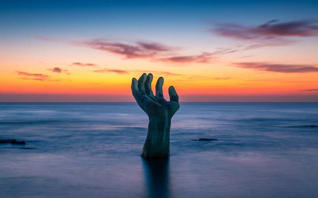 Bellissima alba sulla spiaggia di homigot, pohang, corea del sud,