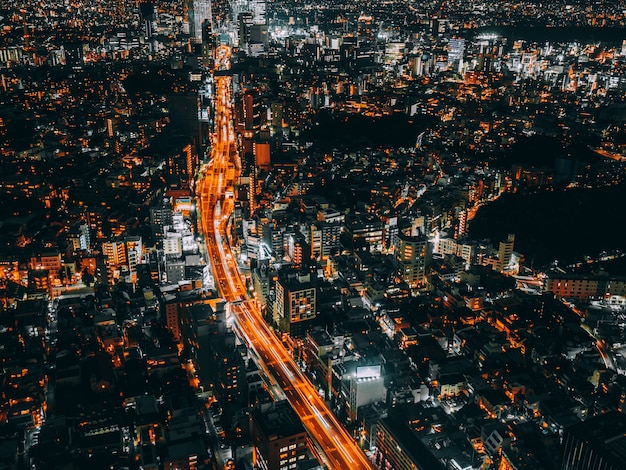 Bellissima architettura e costruzione del paesaggio urbano di tokyo