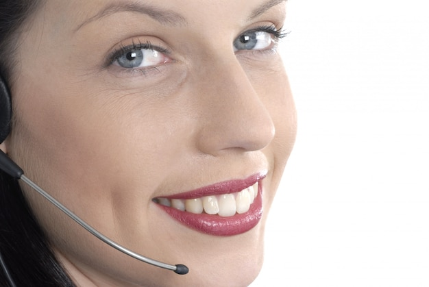 Bellissima receptionist telefonica