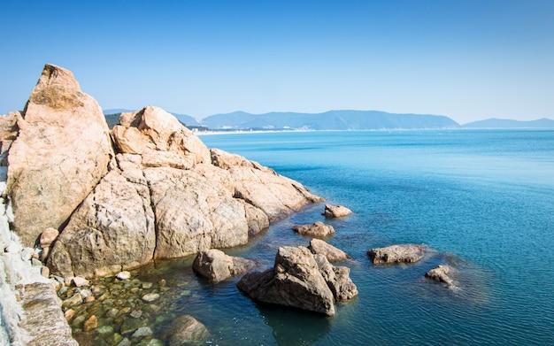 Bellissima spiaggia estiva di wando, wando, corea del sud