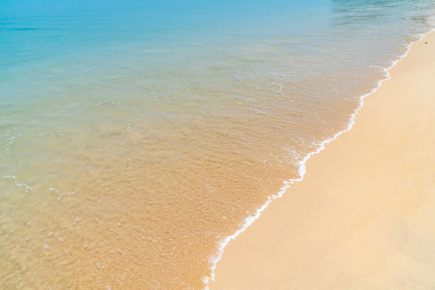 Bellissima spiaggia tropicale e mare nell'isola paradiso