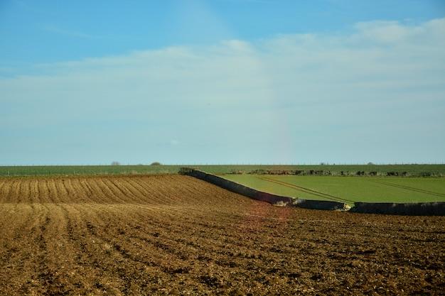 Bellissime colline nella campagna inglese