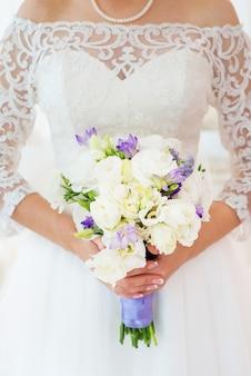 Bellissimo bouquet da sposa da vicino